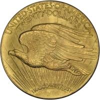 Złota moneta 20 dolarów, Double Eagle - rewers
